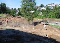 Mündungsbereich des Kanals in das neu erstellte Bachbett