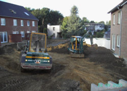 Gärten erster Bauabschnitt während der Bauphase