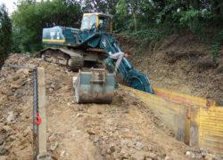Kanalbau zum Erschließungsgebiet DN 400 bis 6m Tiefe mit Absturzschächten