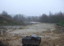 Gelände des Regenüberlaufbeckens nach Kanalverlegung
