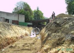 Beginn des Tunneleinbaus durch Nachunternehmer