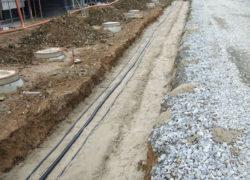 Kanalbau DN 250 und DN 400 im Erschließungsgebiet und Versorgung