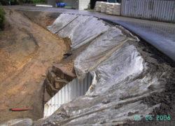 Tunnel mit vorprofilierter Böschung