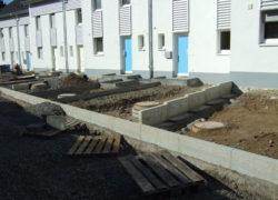 Herstellung der Aussenanlagen und Straßenausbau im Bereich der Lärmschutzwand