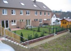 Gärten im ersten Bauabschnitt während der Bauphase und nach Fertigstellung